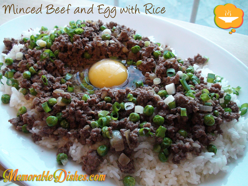 Minced Beef and Egg with Rice