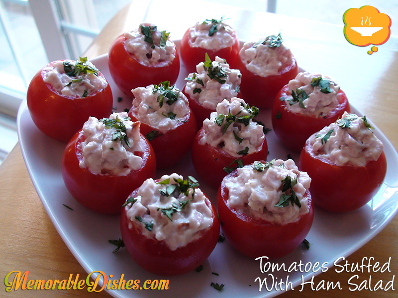 Tomatoes Stuffed With Ham Salad